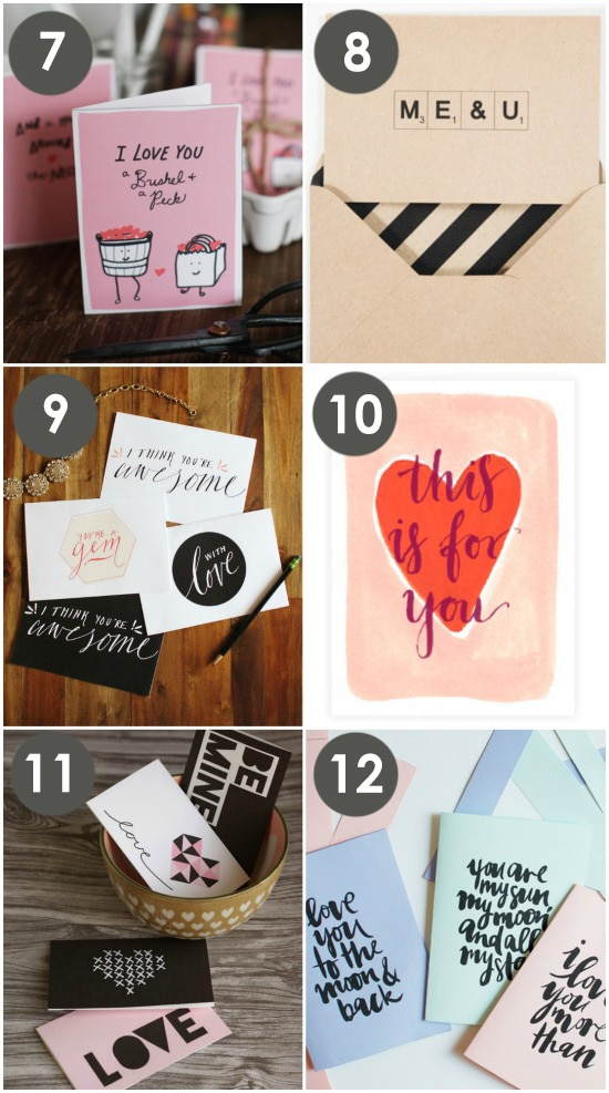 Printable Love notes