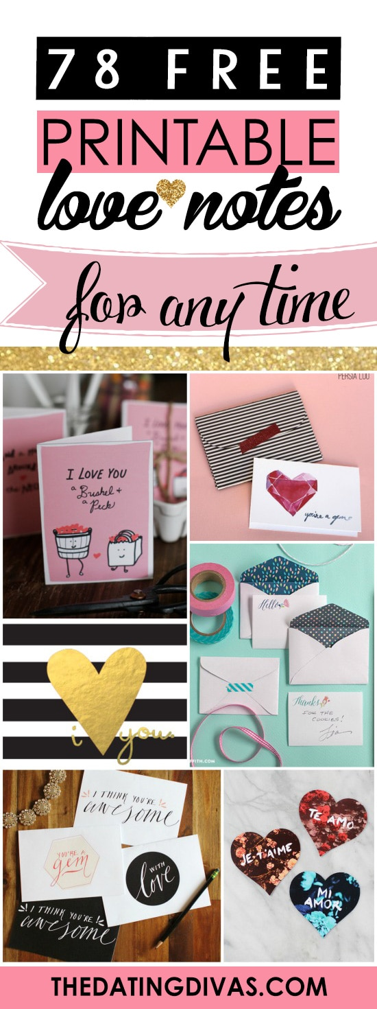 FREE Printable Love Notes For Any Time banner
