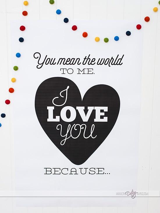 Printable Love You Poster