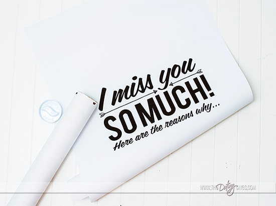 Printable Miss You Poster