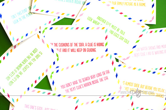 Printable School Supply Scavenger Hunt Clue Cards