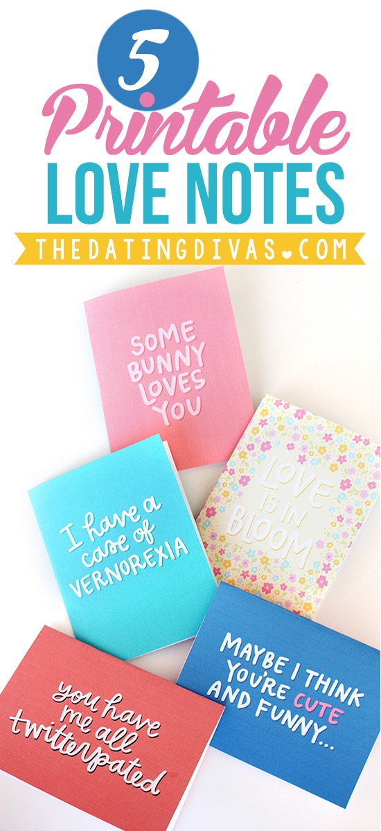 Printable Spring Love Notes
