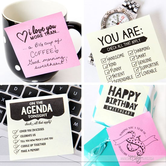 Quotes On Sticky Notes: Printable Love Sticky Notes For Him Or Her
