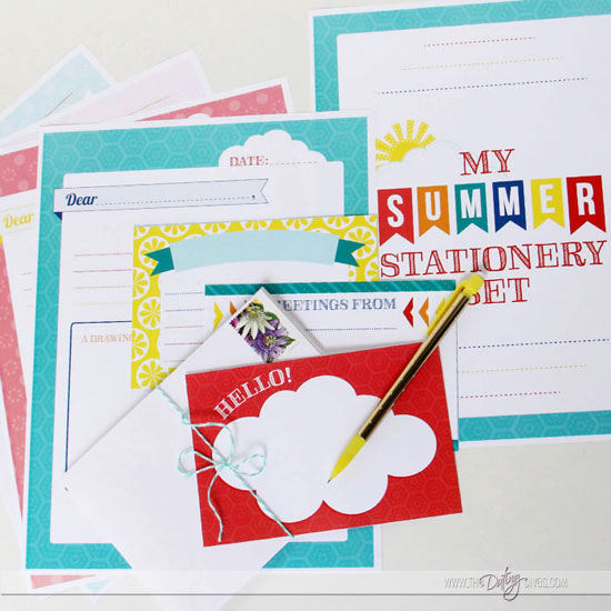 Printable Summer Stationery Set for Kids