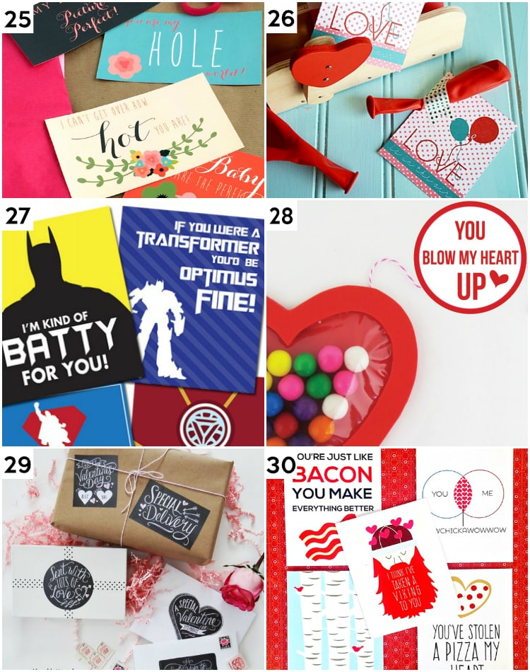 Cute and Clever Printable Valentine's Day Gifts