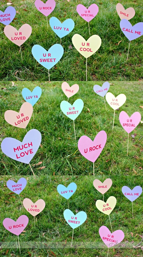 Printable Valentine's Lawn Signs