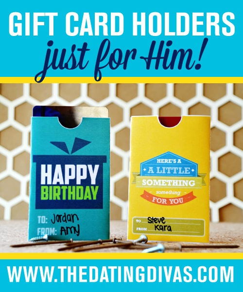 DIY Gift Card Envelopes For Him