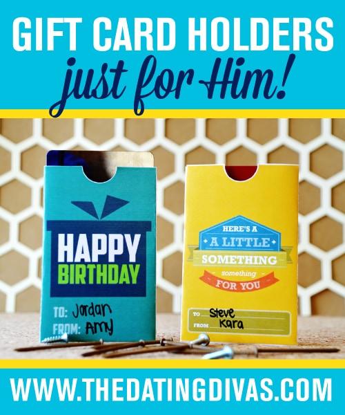 DIY Gift Card Envelopes For Him