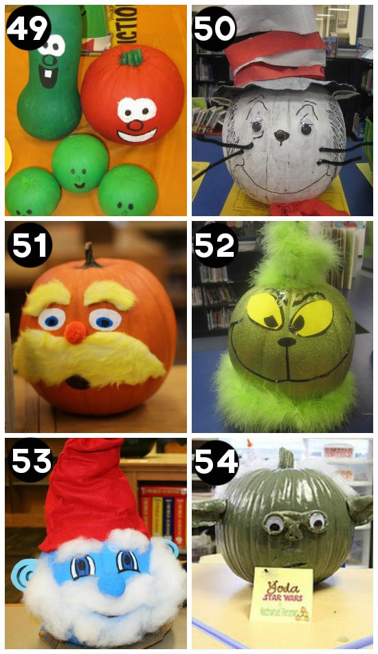 pumpkin decorating ideas pictures - 150 Pumpkin Decorating Ideas Fun Pumpkin Designs for