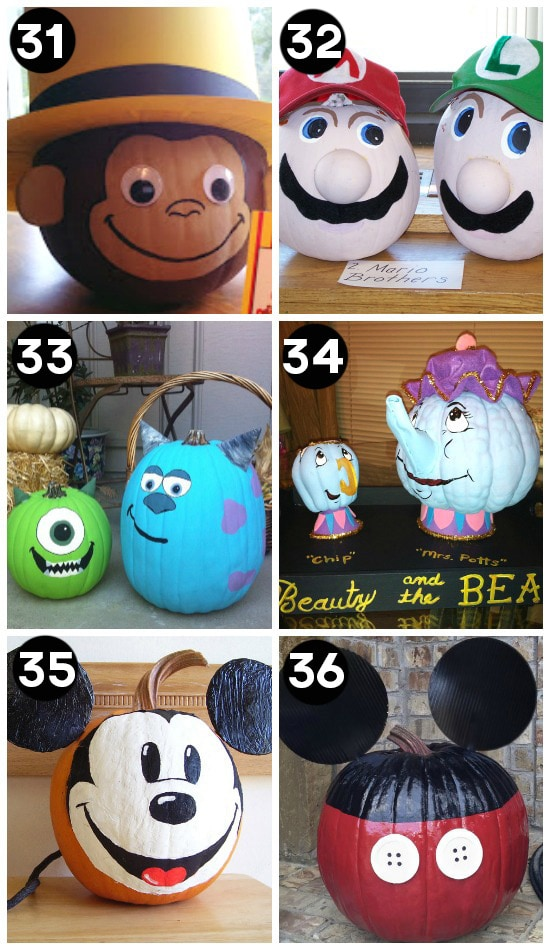 Gallery For gt No Carve Pumpkin Contest Winners