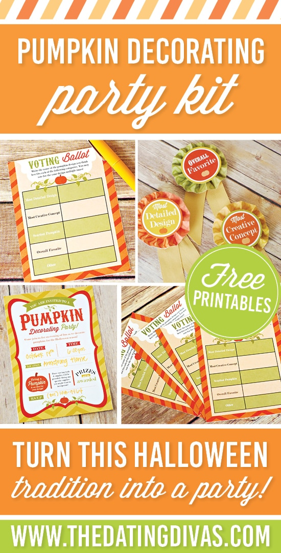 Pumpkin Decorating Party Kit (this is an awesome party idea!) #PumpkinDecorating #TheDatingDivas