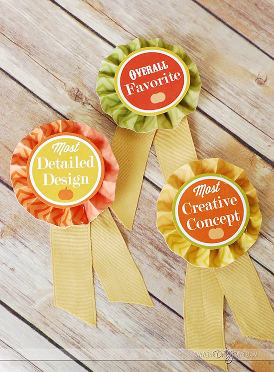 Pumpkin Decorating Party Printable Awards