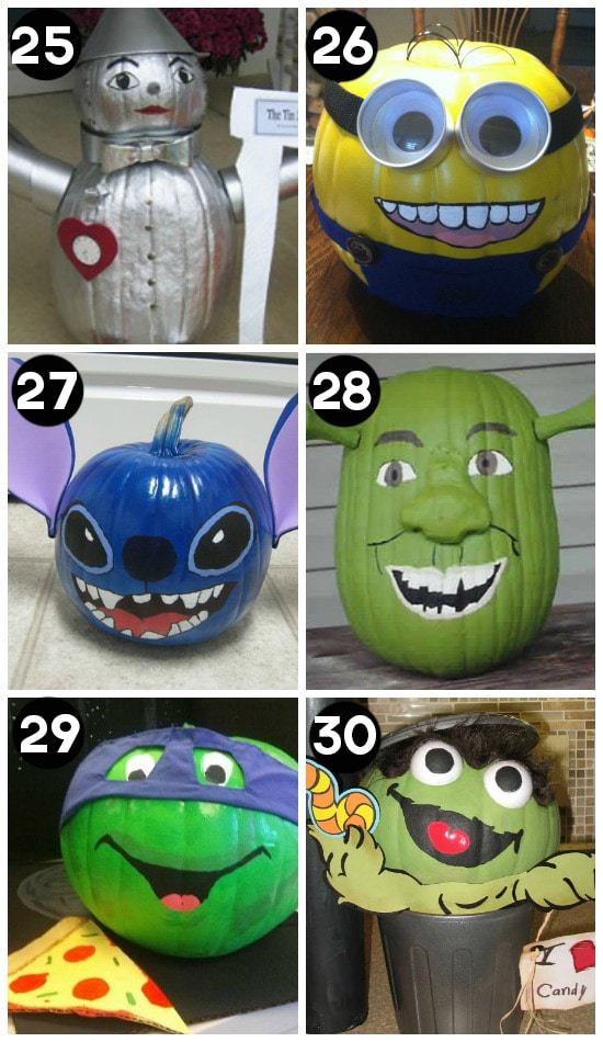 Pumpkin Decorating with Book and Movie Characters