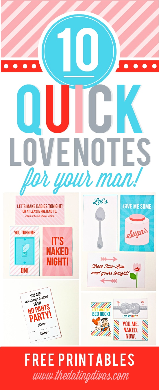 10 Printable Sexy Notes