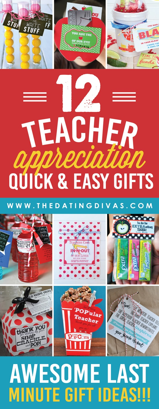 Classroom Recognition Ideas ~ Quick and easy teacher appreciation gifts ideas the