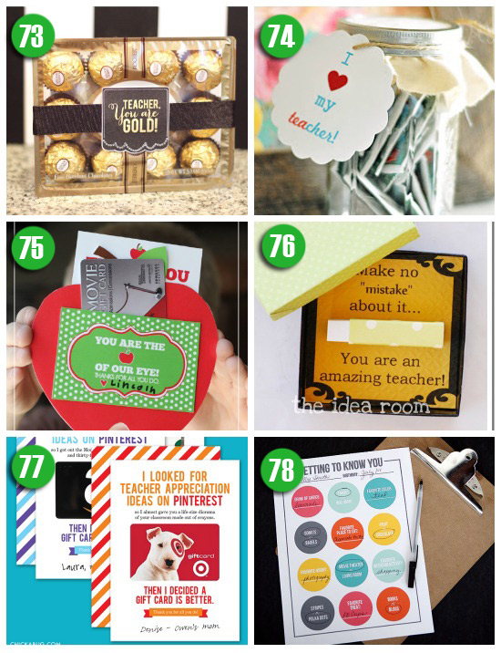 Quick and Easy Teacher Gift Ideas