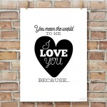 """Reasons I Love You"" Posters – an Easy, Romantic Gift Idea"
