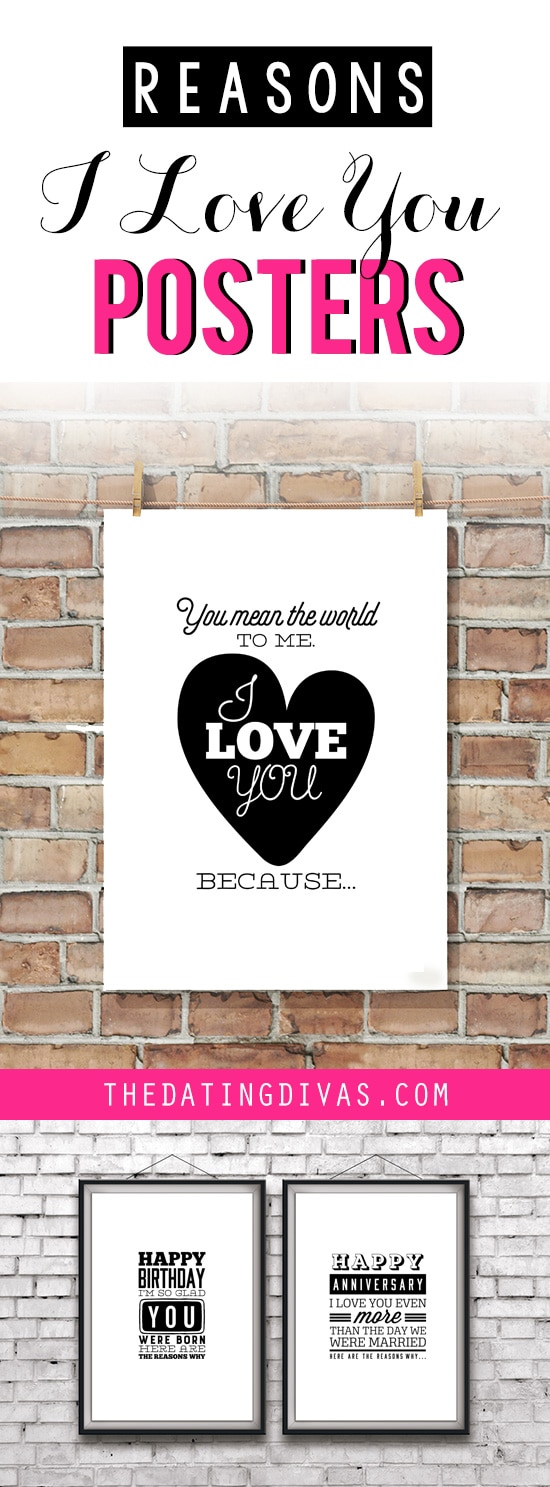 "Printable ""Reasons I Love You"" Posters for an Easy, Romantic Gift Idea"