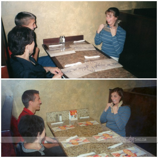 Recreating an old photo dinner surprise