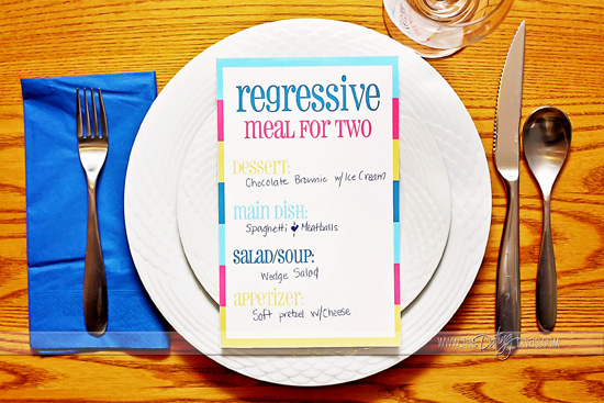 Regressive Meal Backwards Date Night