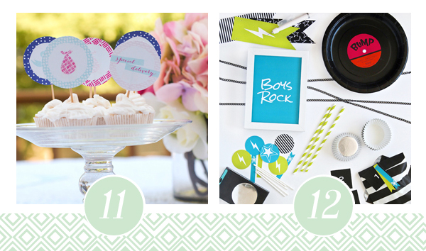 Rock and Roll Baby Shower Printable Pack