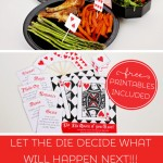 roll of the die chance date free printables, cheap date night