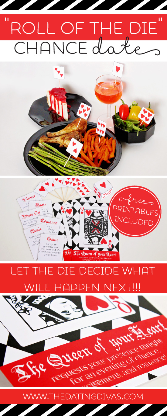 Roll of the Die Chance Date Free Printables