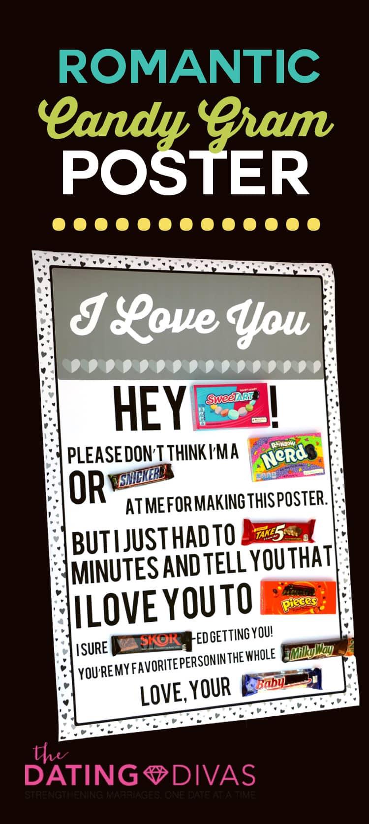 Romantic Candy Gram Poster