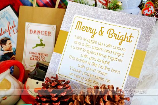 Christmas basket kit for wife