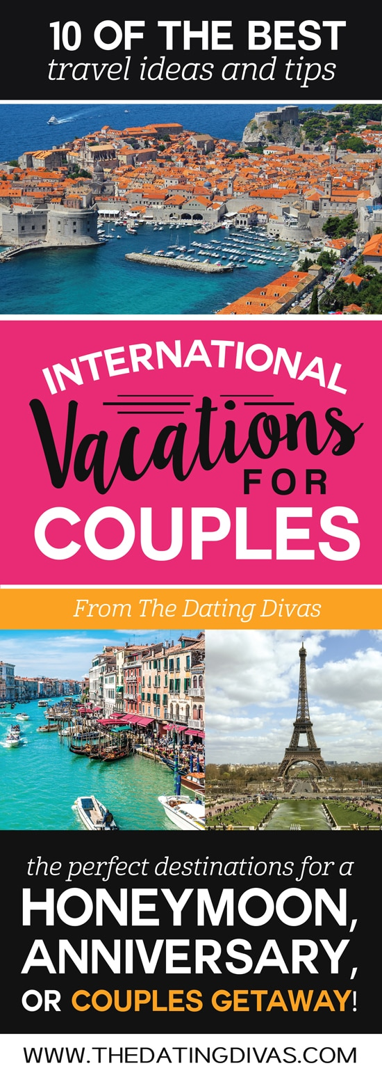 Romantic International Couples Vacations and Honeymoons