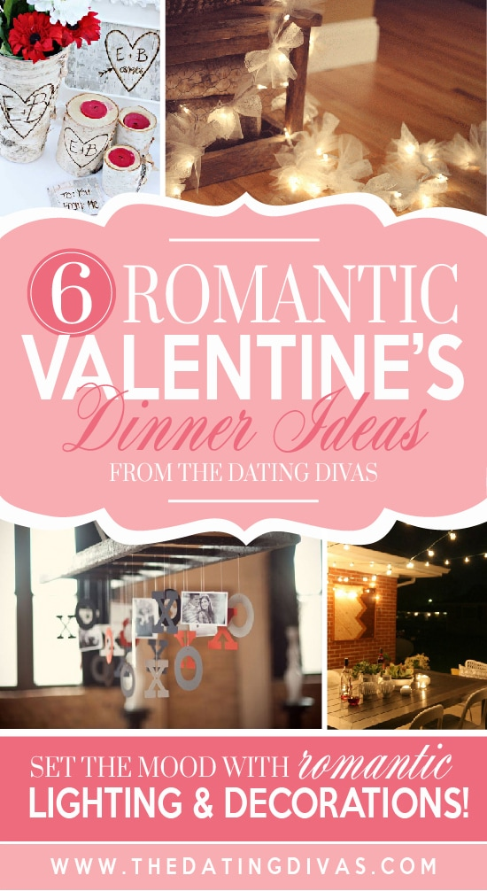 Romantic Valentine's Dinner lighting and decor ideas