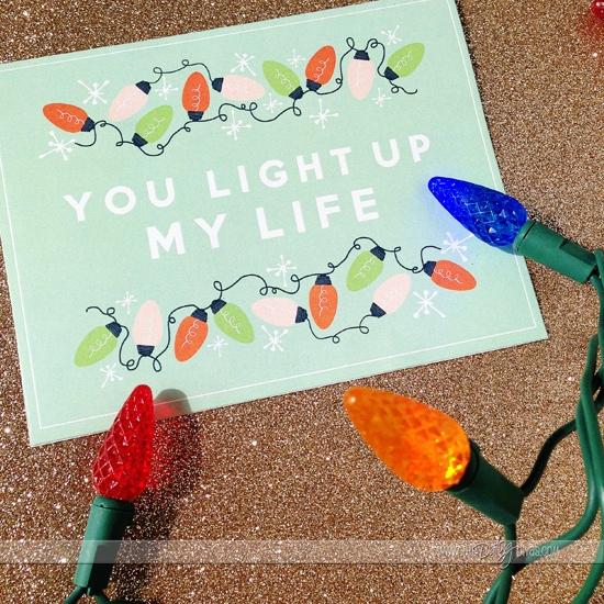 You light up my life christmas card