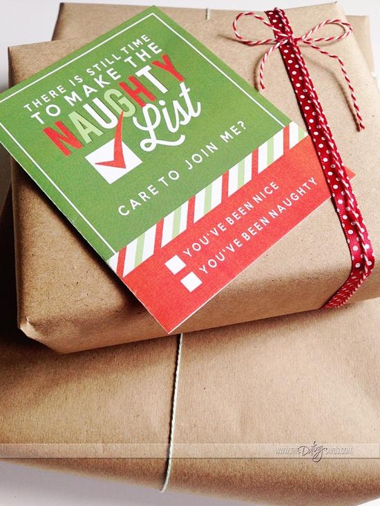 naughty list christmas card for husband