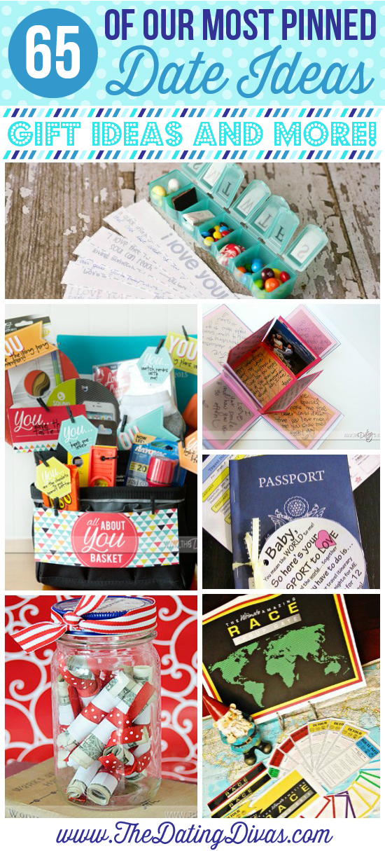 65 of our Most Pinned Date ideas, gift ideas and more at the Dating Divas