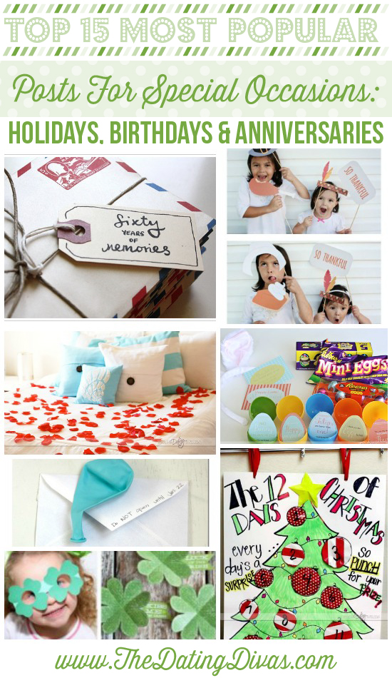 Most Pinned Holiday, birthday and anniversary ideas