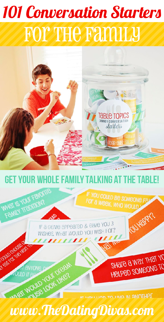 family dinner conversation starters jar