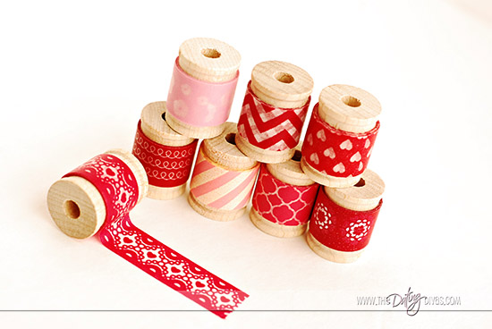 Love Note Clothespin Wreath Washi Tape