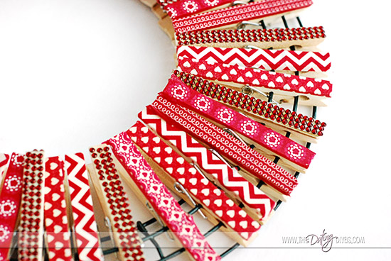 Love Note Clothespin Wreath Example