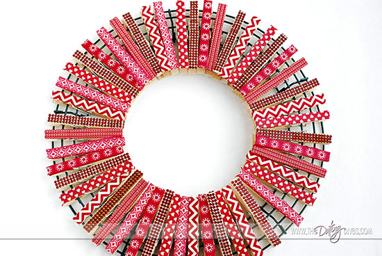 Love Note Clothespin Wreath Idea