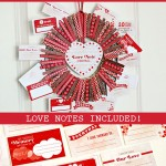 Love Note Clothespin Wreath