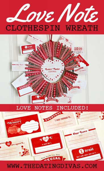 Love Note Clothespin Wreath Tutorial