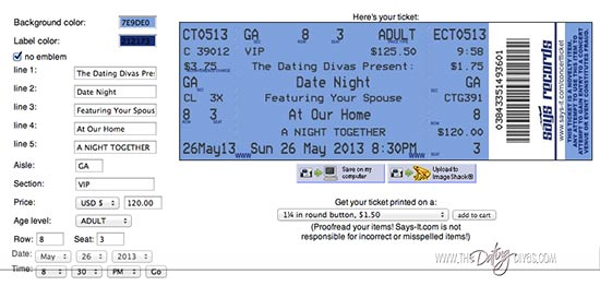 Sarina Concert Tickets Screenshot1_EditWeb  Make Your Own Concert Tickets