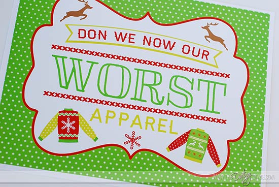 the ultimate ugly sweater party, Party invitations