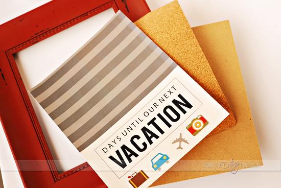 photograph regarding Vacation Countdown Calendar Printable known as Do-it-yourself Getaway Countdown