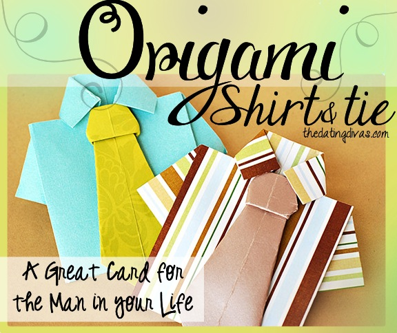 Origami Shirt And Tie Tutorial