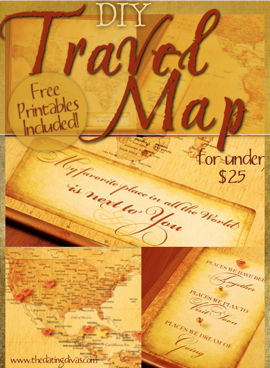 DIY Travel Map – Fill In Travel Map
