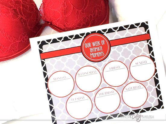 Spice Up Your Marriage Schedule - Free Printables!
