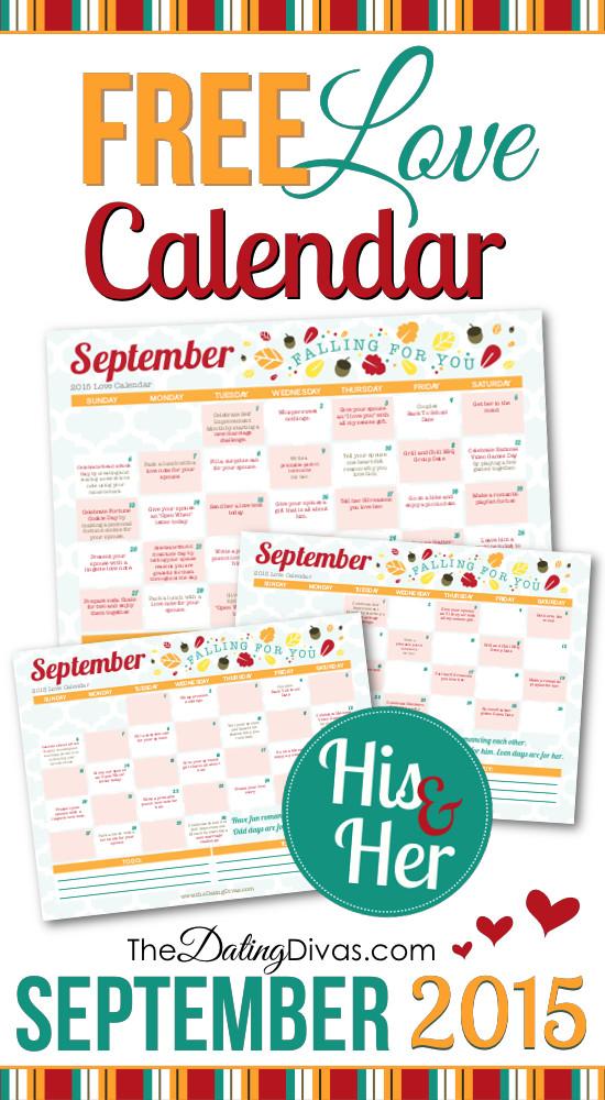 September Love Calendar 2015