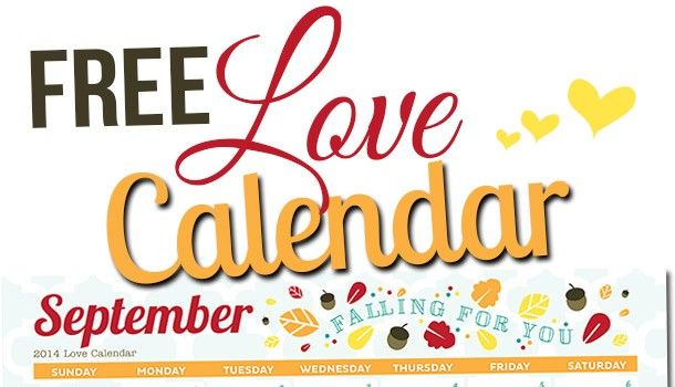 Free Printable September LOVE Calendar