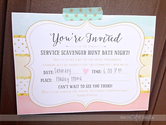 A service themed scavenger hunt for you and your friends!